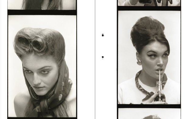 Helena wears head scarf by Zara; Coco wears vintage jumper from Beyond Retro, scarf stylist's own, earrings by Gogo Philip