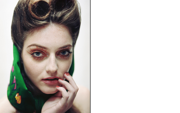 Helena wears head scarf by Zara