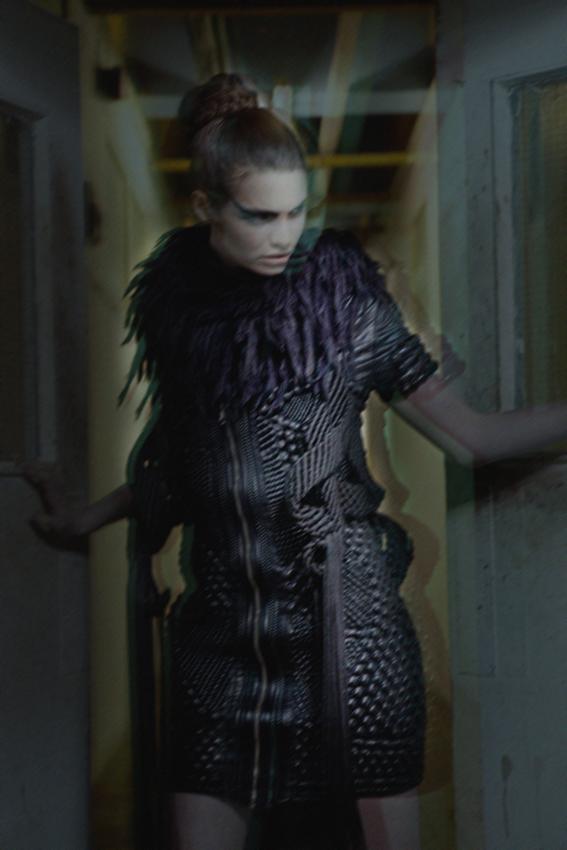 leather dress Zyanya Keizer, fringe dress Eleanor Amoroso, cape Black Heart