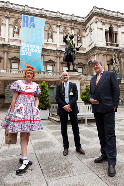 Stephen Fry & Grayson Perry launch Keepers House at London's Royal Academy of Arts