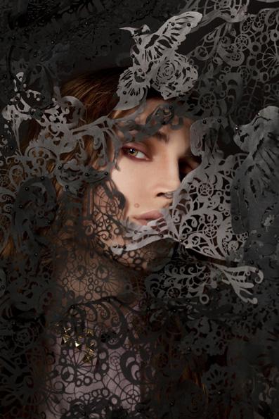 Veil by Lydia Freeborn; Shirt by Ivory Jar