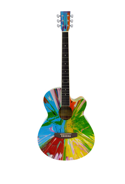 Damien Hirst Art Guitars for Joe Strummer