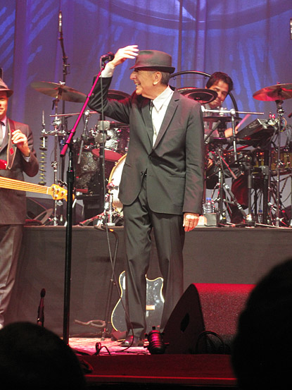 Leonard Cohen Concert in Quebec