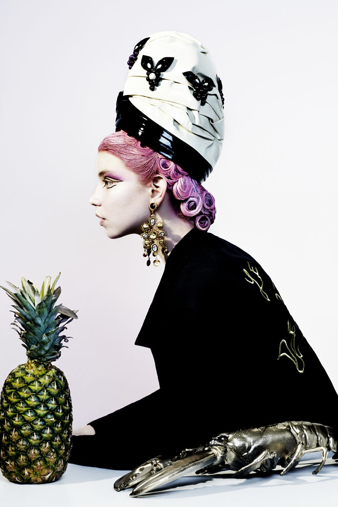 turban by Aurora Ozma, vintage jacket,  earrings by Dolce & Gabanna