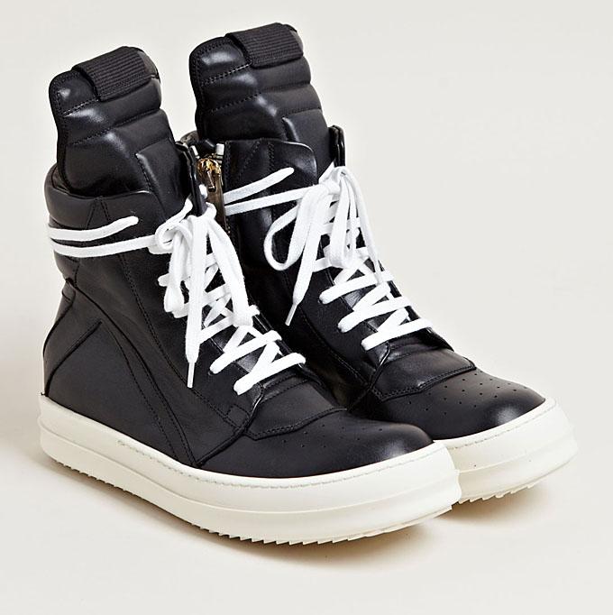 rick owens geobasket sneakers at ln cc flux magazine. Black Bedroom Furniture Sets. Home Design Ideas