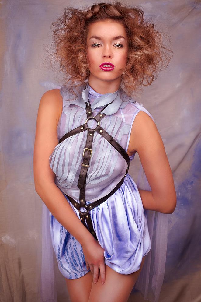 Summer Beauty: Dress by Bora Aksu, leather harness by The Model Traitor