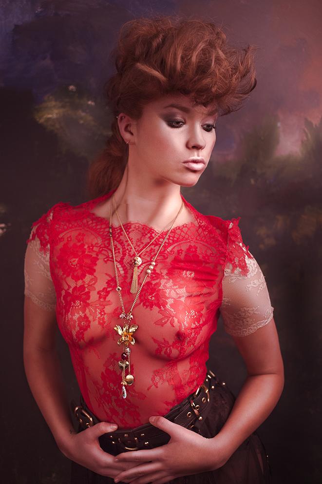 Summer Beauty: Dress by Katya Katya Shehurina, leather suspenders belt by The Model Traitor, necklace by Minna Attala