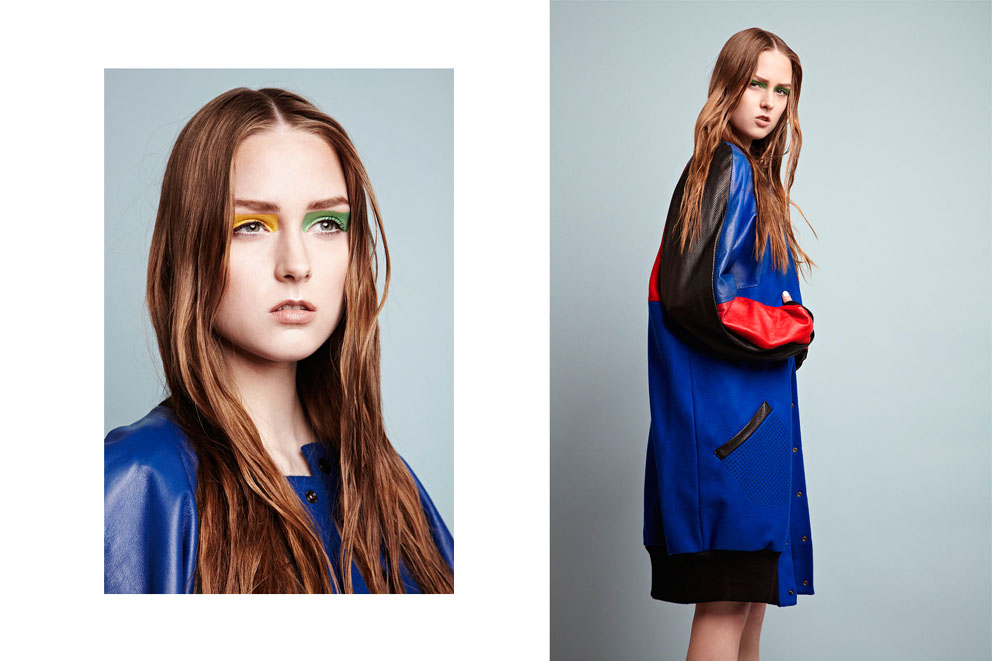 Sports fashion photography: Left & Right: coat Ema Ranger.