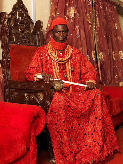 Nigeria Monarchs Series - The Pere Of Isaba: photography of Nigerian kings and queens by George Osodi
