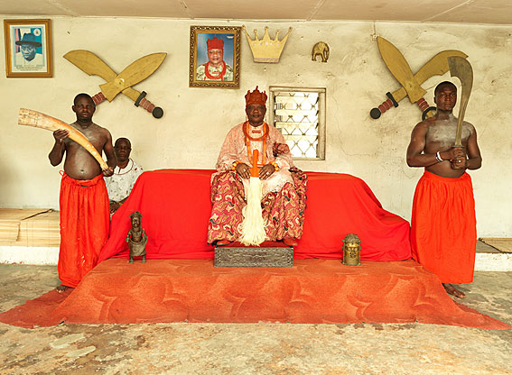 Nigeria Monarchs Series - The Ovie Of Ughelli: photography of Nigerian kings and queens by George Osodi