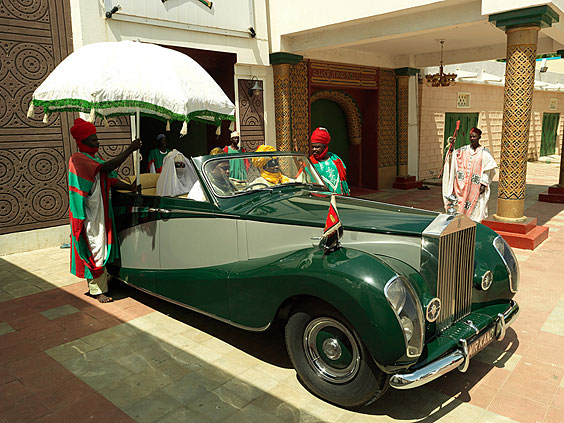 Nigeria Monarchs Series- The Emir Of Kano's Rolls Royce: photography of Nigerian kings and queens by George Osodi
