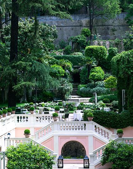 hotel garden in rome
