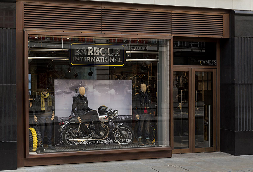 Barbour London store