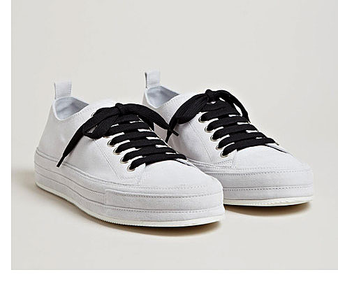 Mens Footwear: Low Nubuck Scamosciato Sneakers from Ann Demeulemeester