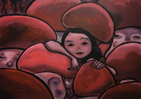Red Pig Flower, London Artist