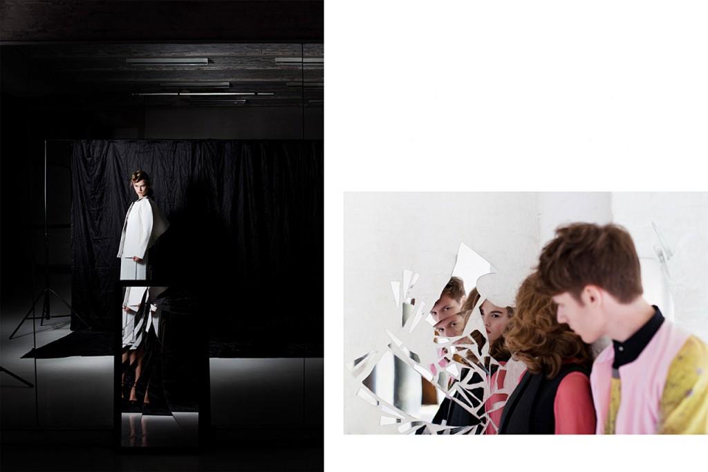 Schall & Schnabel Shoot: LEFT: as before. RIGHT: Rosalie wears dress by GLAW, waistcoat by LOUISE FRIEDLANDER