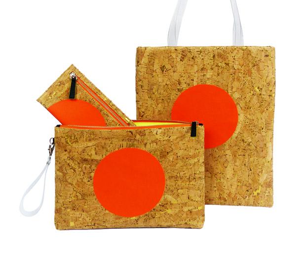 hong kong designer - glush - cork handbag