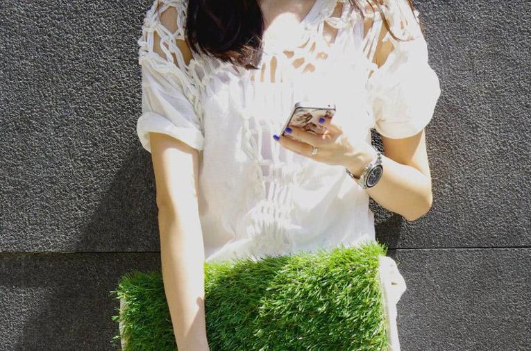 grass handbag