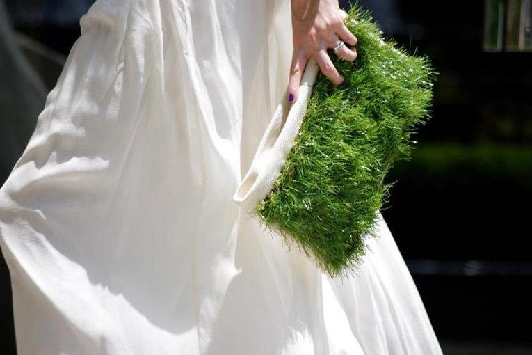grass clutch bag