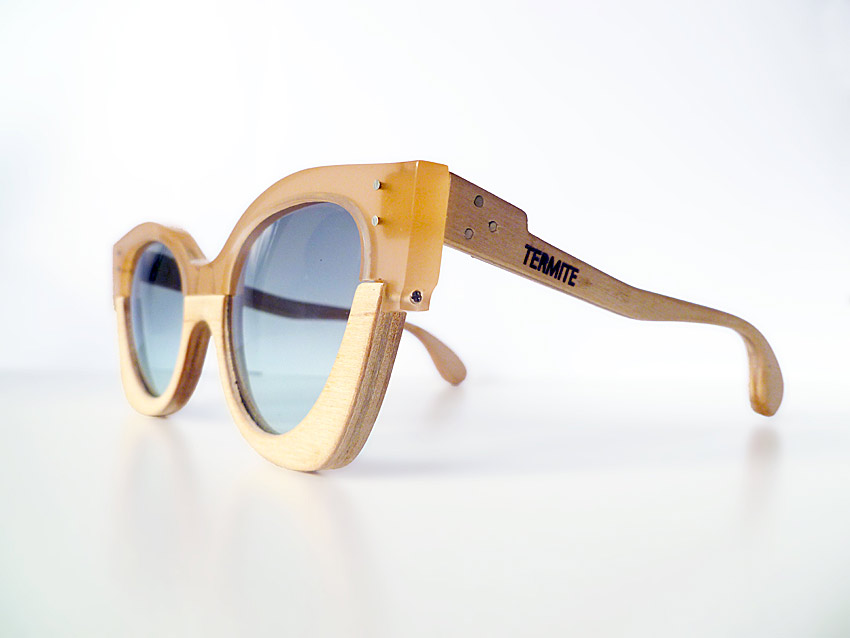 termite eyewear, wooden glasses