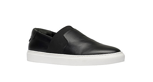 Balenciaga Black Monochrome Slip-On Sneakers