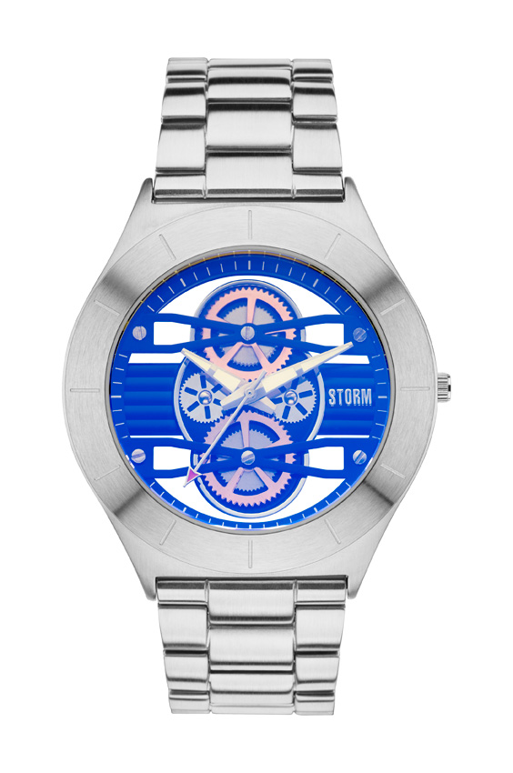 STORM Cognition silver & blue watch