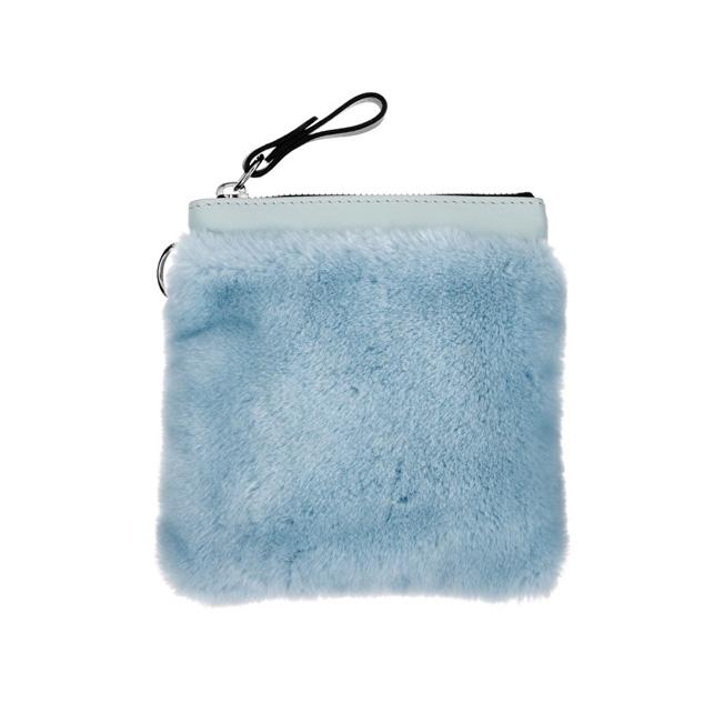 Faux-fur Womens fashion accessories Romy London, Powder Blue