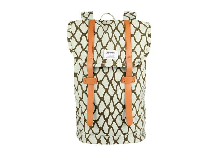 Sandqvist 'Stig' backpack in Net Print