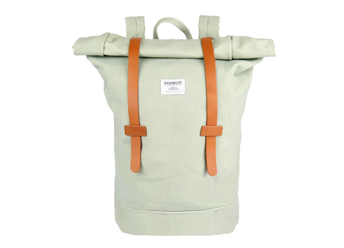 Sandqvist 'Sonja' roll top backpack in Sage Green