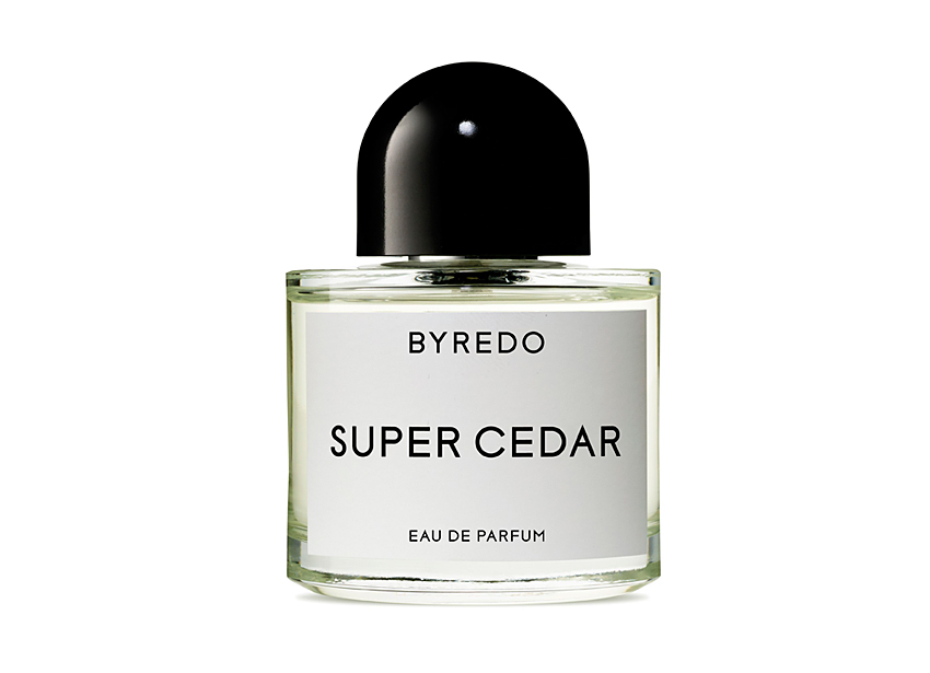 byredo super cedar, perfume bottle, independent perfume