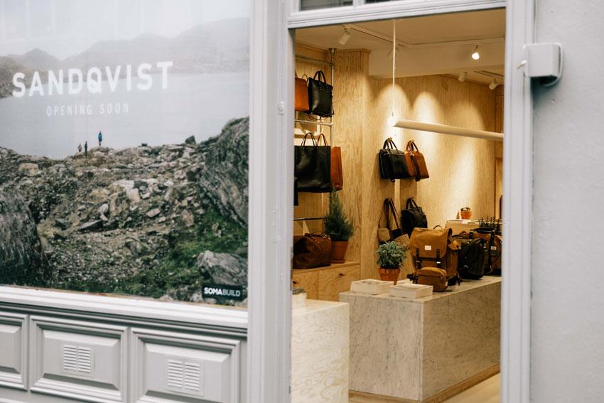 luxury backpacks, sandqvist bags, soho shops