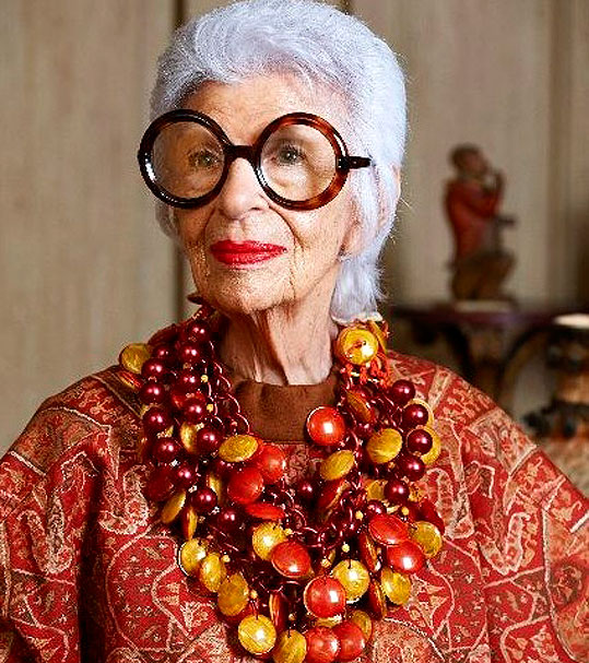 style icons like Iris Apfel