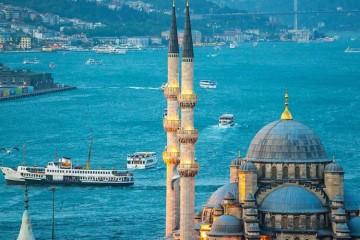Ferry Crossing the Bosphorus