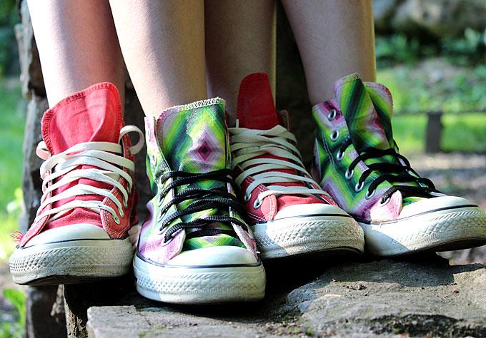 Women in Converse