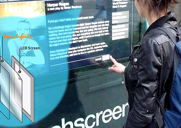 window into a touchscreen