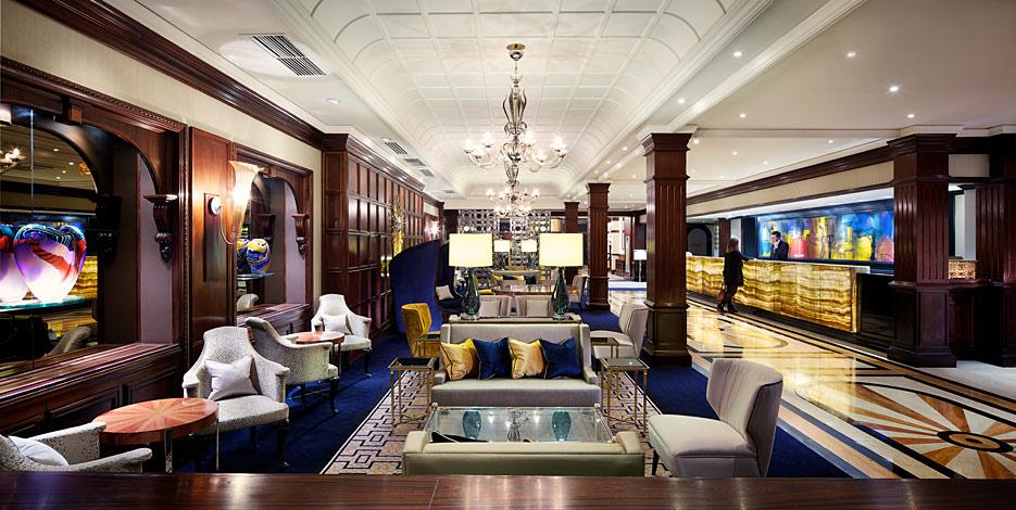 taj hotels marble foyer in london
