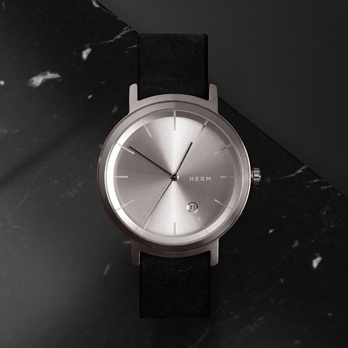herm studio silver watch, liberty London