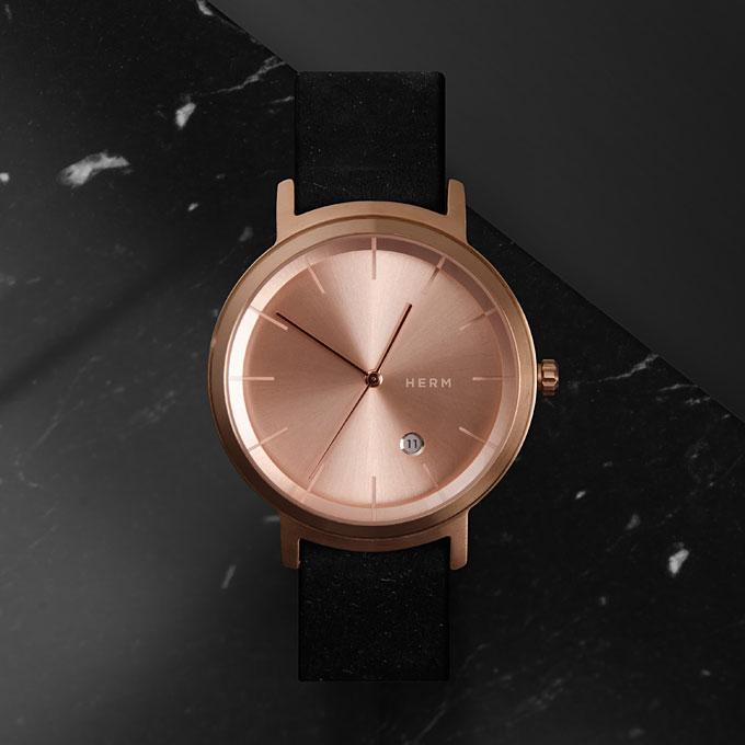 herm studio rosegold watch, liberty London