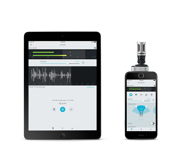 shure MV88 microphone for iPhone