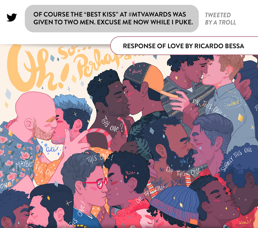 ricardo bessa - LGBT illustration for Pride in London