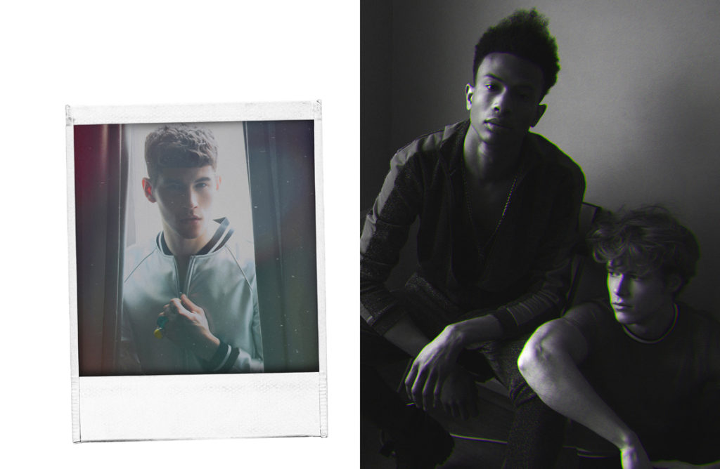 Shot 6 (Left): Pedro wears bomber by Zara, rings by H&M____Shot 7 (Right): Pedro wears shirt by H&M, reclaimed vintage trousers by asos, belt by asos, long underwear by Muchachomalo.
