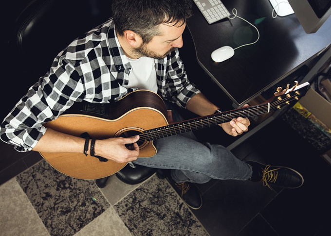 working as a musician