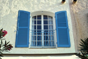 shutters or curtains