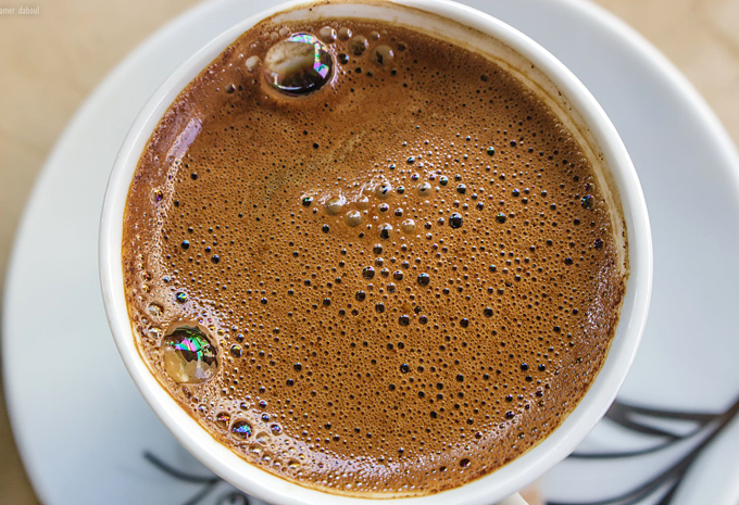 coffee with an espresso machine