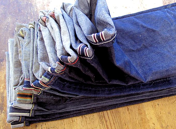 sharp in denim jeans