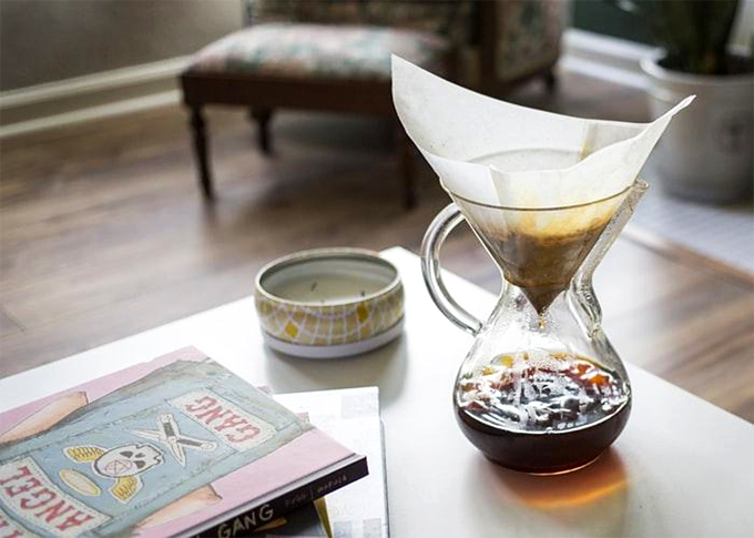 coffee brewing at home