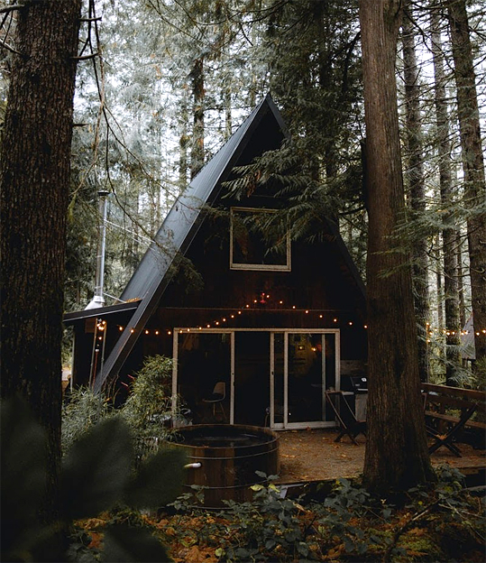 living in a log cabin
