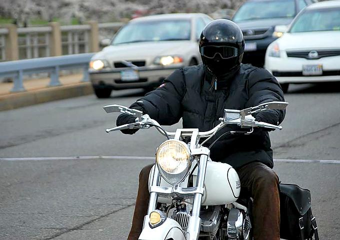 Lane Splitting Motorbike